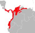 Transandinomys talamancae distribution.png