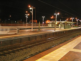 Claisebrook railway station - Claisebrook Station at night