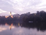 Trent Building and Highfields Lake, University Park Campus.