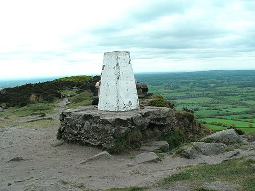 Trig Point on The Cloud - geograph.org.uk - 1867948