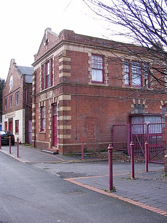 Wolverhampton District Electric Tramways Company - Company offices, a transformer station and the repair and paint shop at 34 Mount Pleasant, Bilston