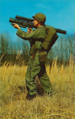 Trooper aiming the Redeye missile, Redstone Arsenal, 1961.png