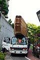 Truck transport of the River Downstream Boat from goal point to starting point.jpg