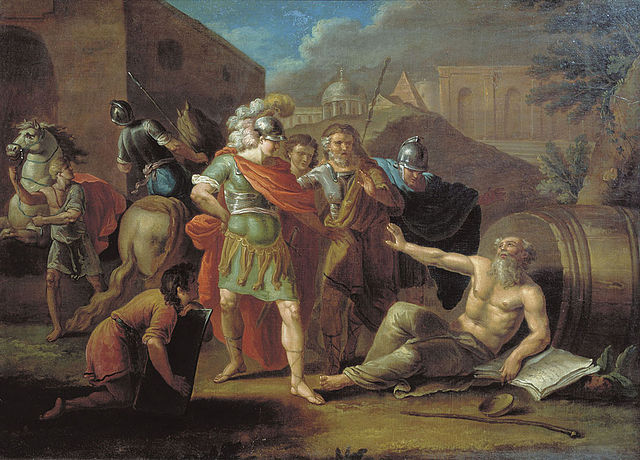 Тупылев И. Ф. Александр Македонский перед Диогеном, 1787