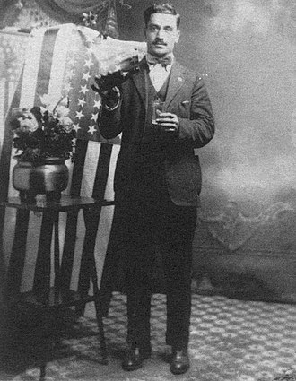 Turkish Americans - A Turkish immigrant leather worker, Yakub Ahmed, celebrates becoming a naturalized American citizen in the 1920s