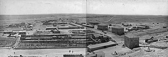 Battle of Magdhaba - Ottoman military town of Hafir el Aujah, principal desert base