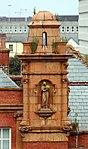 Turret & statue of Urania, Conway Secondary School.jpg