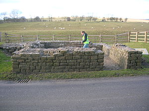 Leahill Turret, Hadrian's Wall - Image: Turret 51B, Leahill, Hadrian's Wall