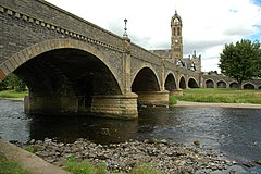 Brig ower the River Tweed in Peebles, Scotland
