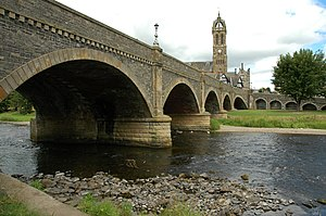 Peebles - Image: Tweed Bridge, Peebles