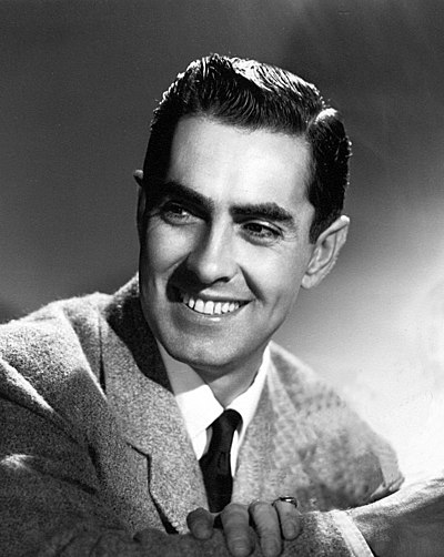 Tyrone Power, American film, stage and radio actor