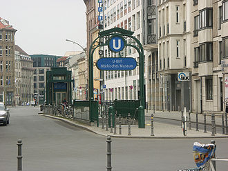 Märkisches Museum (Berlin U-Bahn) - Entrance on Wallstraße