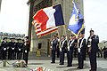 U.S. Air Forces in Europe of Ramstein, Germany, present the colors during a Memorial Day ceremony at the tomb of France's unknown soldier in the Arc de Triomphe in Paris.jpg