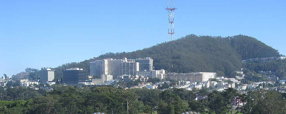 UCSF Medical Center and Sutro Tower in 2008
