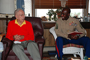 Henry H. Black - Black with Sgt Major Carlton W Kent in 2009