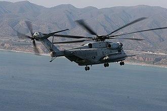 HMH-361 - A CH-53E Super Stallion from HMH-361 flying off the coast o Camp Pendleton, California.