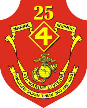 25th Marine Regiment (United States) - 25th Marine Regiment insignia