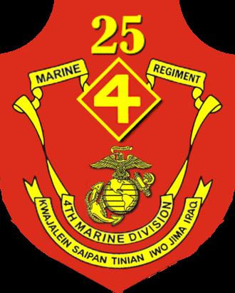25th Marine Regiment (United States) - 25th Marine Regiment insignia