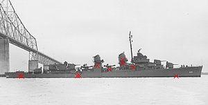 USS Albert W. Grant (DD-649) Hits.jpg