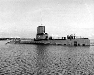 USS Chivo (SS-341) - Chivo, after modernization, 1953.