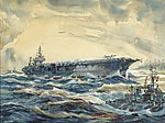USS Constellation Launches Against North Vietnam, by Arthur Beaumont.jpg