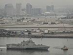 USS Gabrielle Giffords transits San Diego Bay, Calif. (36697516282).jpg