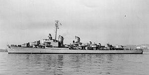 USS Henley (DD-762) off San Francisco, California (USA), on 16 October 1946 (19-N-96550)