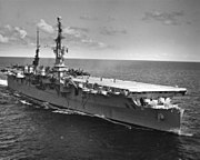 USS Saipan (CVL-48) underway c1955