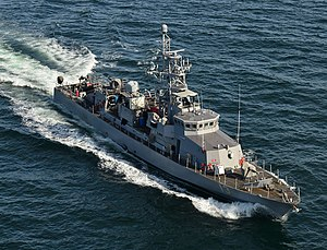 USS Shamal - Image: USS Shamal (PC 13) underway off the coast of Northern Florida in March 2016
