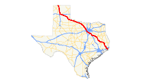 US 287 (TX) map.svg