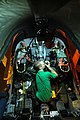 US Navy 050811-N-5781F-115 Aviation Structural Mechanic Adam Ennes performs preventive maintenance on the ejection seats in the rear cockpit of an EA-6B Prowler.jpg