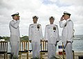 US Navy 070508-N-4856G-024 Adm. Robert F. Willard relieves Adm. Gary Roughead as Commander, U.S. Pacific Fleet (COMPACFLT) during the COMPACFLT change of command ceremony at Naval Station Pearl Harbor.jpg