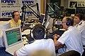 US Navy 070521-N-2908O-005 KARN News Radio host Bob Steele interviews NRD Nashville Executive Officer Cmdr. Clint Vollono, U.S. Navy Oceanographer and Navigator Rear Adm. Fred Byus.jpg