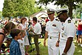 US Navy 070625-N-7163S-001 Prospective commanding officer of Precommissioning Unit (PCU) Green Bay (LPD 20) Cmdr. Cal Slocumb, right, and Cmdr. Joe Olson visit the ship's namesake city during Green Bay's Kids Day.jpg
