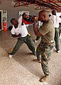 US Navy 080208-N-0577G-140 Staff Sgt. Franklin Davis, of East Brunswick, N.J., a Marine assigned to Africa Partnership Station (APS) begins the first day of martial-arts instruction for the 2nd Infantry Battalion of the Ghanaia.jpg
