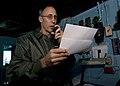 US Navy 101206-N-9626Y-001 Vice Adm. Scott R. Van Buskirk, commander of the U.S. 7th Fleet, addresses the crew of the aircraft carrier USS George W.jpg