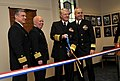 US Navy 110124-N-8273J-027 Capt. Joseph Voboril, left, Capt. Jim Davis, Chief of Naval Operations (CNO) Adm. Gary Roughead and Rear Adm. Mike Lyden.jpg