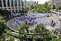 US Navy 110603-N-ZB612-190 More than 200 Sailors and Marines attend a wreath laying ceremony at the Navy Memorial to commemorate the 69th anniversa.jpg