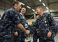 US Navy http-www.navy.mil-management-photodb-photos-100602-N-7526R-137 Master Chief Petty Officer of the Navy (MCPON) Rick West meets with Sailors assigned to Joint Analysis Center Royal Air Force Molesworth, England.jpg