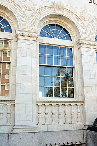 United States Post Office and Courthouse (Waycross, Georgia) - Image: US Post Office and Cour House, window, Waycross, GA, US