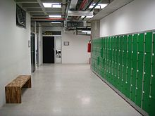 Lockers for students in a corridor of UFABC.