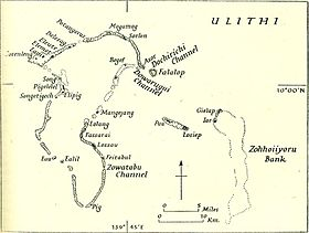 Ancienne carte d'Ulithi.