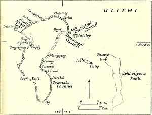 Ulithi - Map of Ulithi Atoll