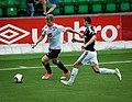 Ulrik Fredriksen (left), Sogndal-Rosenborg 07-15-2017.jpg