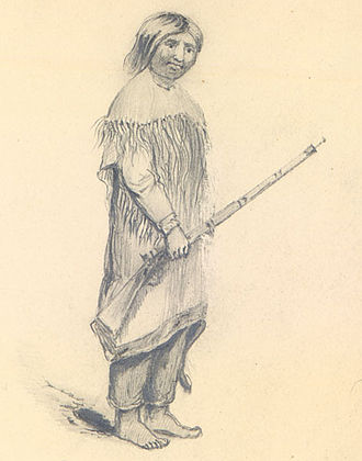 "Umpqua people - ""Umpqua Indian"", drawn by Alfred Thomas Agate"