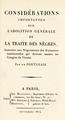 Un Portugais - Considérations importantes sur l'abolition générale de la traite des nègre, 1814.png