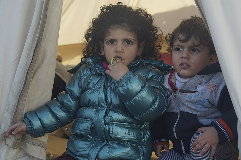 File:Underaged refugees in a camp located at the northeastern Greek island of Lesbos, 30 January 2016.jpg