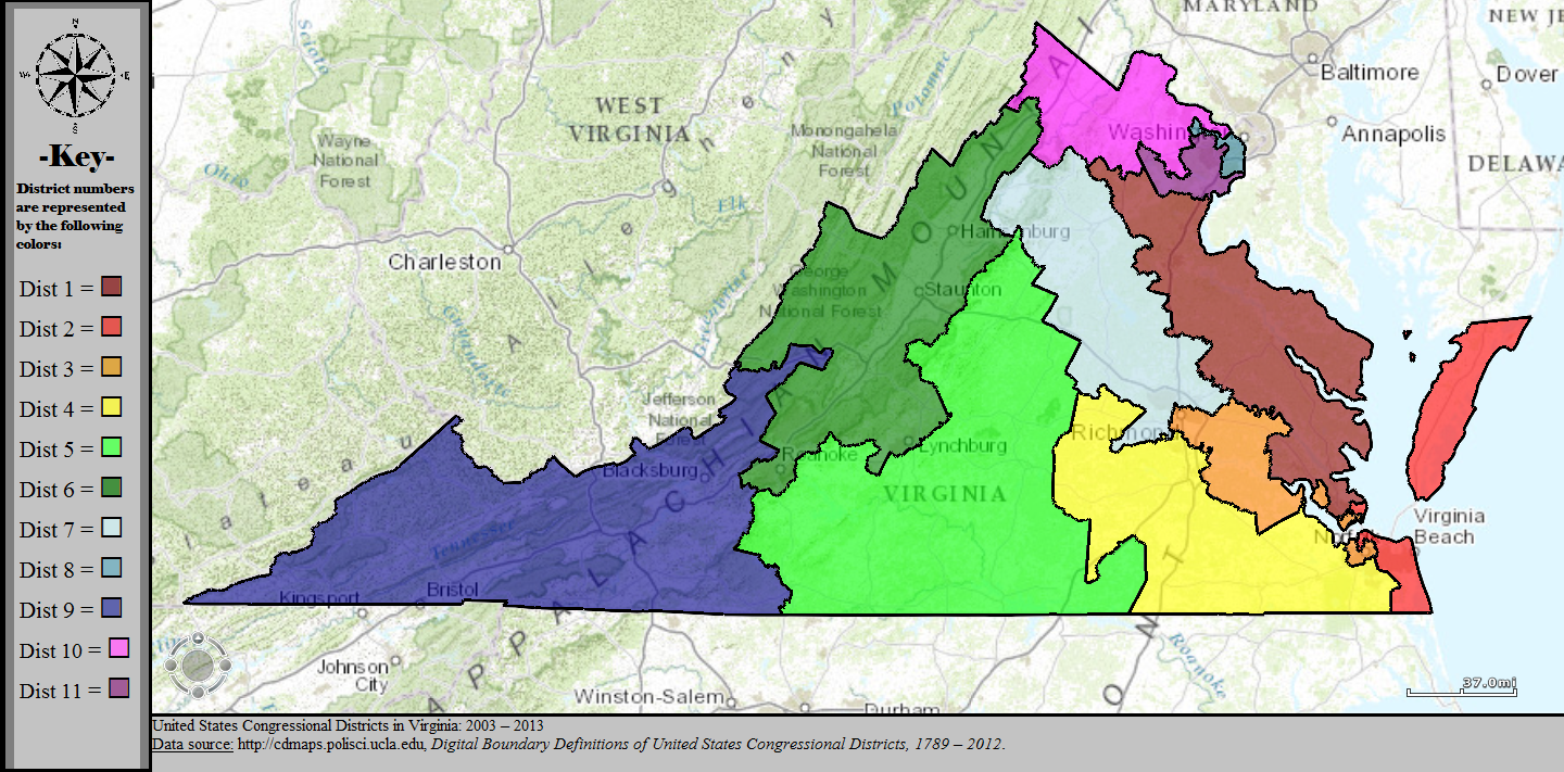 FileUnited States Congressional Districts In Virginia