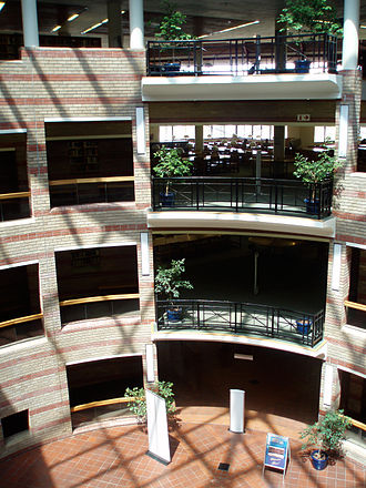 University of the Western Cape - Circular inside of the main library.