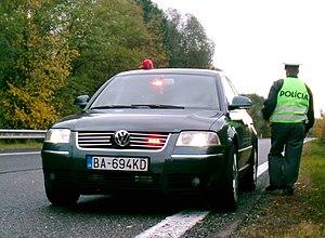 Unmarked police car Slovakia Passat B5; seen o...